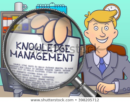 Know-How through Magnifier. Doodle Concept. Stock photo © tashatuvango