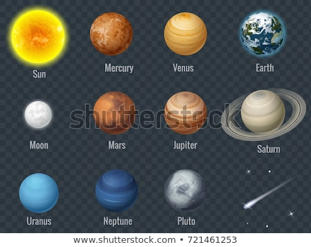 solar system   pluto isolated planet on black background stock photo © nasa_images