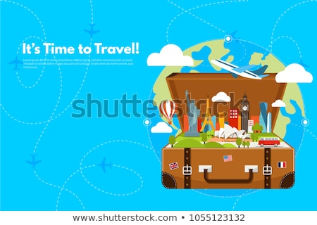 Australia. Time to Travel. Journey, trip and vacation. Vector travel illustration. stock photo © Leo_Edition