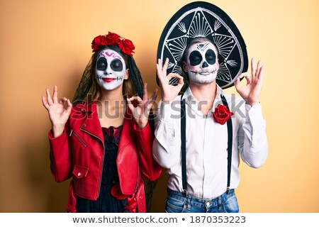 couple in hats eyes closed,relaxed Stock photo © IS2