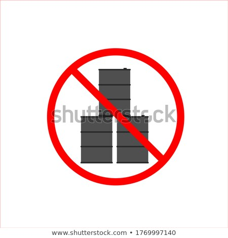 Foto stock: Pare · Óleo · barril · combustível · proibido · congelada