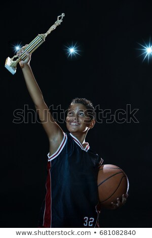 shadow of boy with trophy stock photo © is2