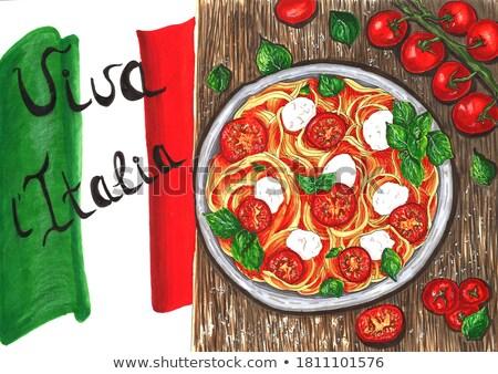 Cocina italiana anunciante diseno diferente placas ilustración Foto stock © bluering