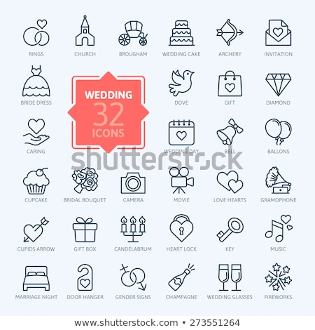 Envelop , heart, love, gift icon. Stock photo © rwgusev