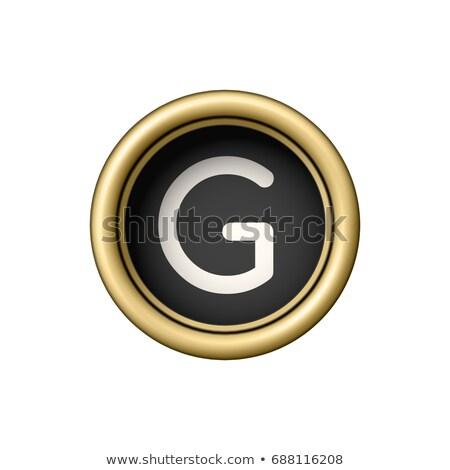 letter g vintage golden typewriter button stock photo © pakete