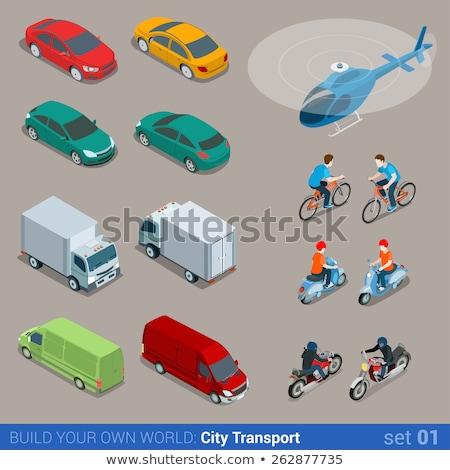 City bicycle isometric 3D element stock photo © studioworkstock