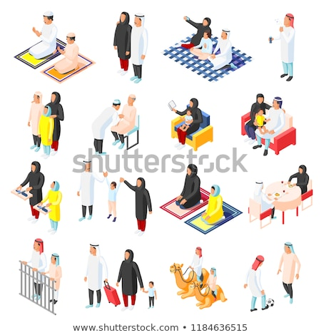 Travelling people isometric 3D elements Stock photo © studioworkstock