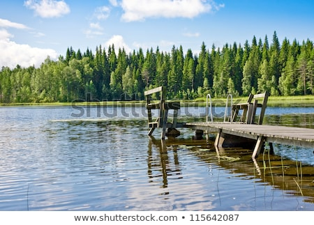Jetty over rural lake Stock photo © IS2