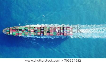 vektor · konténerhajó · kikötő · részletes · konténer · teher - stock fotó © tracer