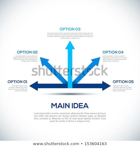 Iş çözümler etiket mavi imleç 3D Stok fotoğraf © tashatuvango