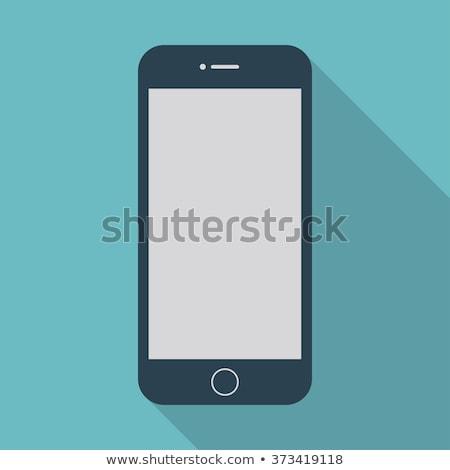 Smartphone simbolo design telefono gadget isolato Foto d'archivio © popaukropa