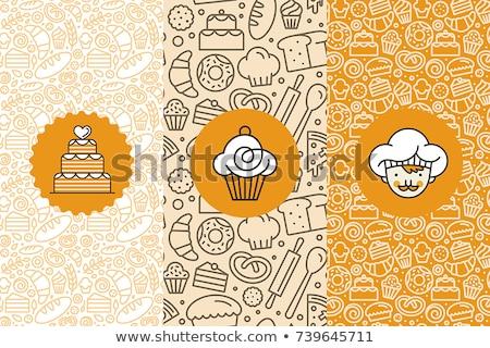 bakery pattern elements Stock photo © alexDanil