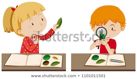Students Reserch in Biology Class Stock photo © bluering