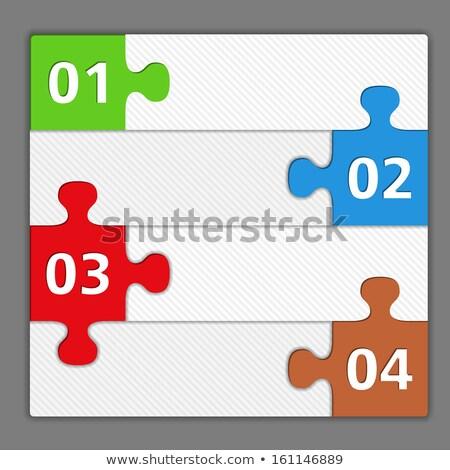 青 チラシ テンプレート パズル 現代 ストックフォト © derocz