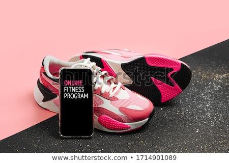 Afroamerikai nő fitnessz edző online vektor illusztráció Stock fotó © vectorikart