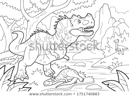 Dinosaurio aislado antigua animales monstruo bestia Foto stock © MaryValery