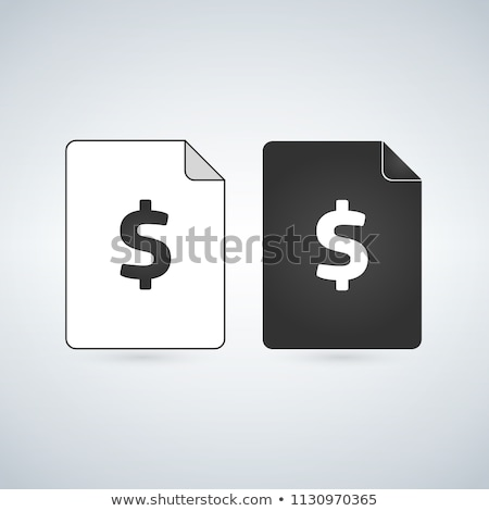 Money Document page . bill document icon - invoice symbol - office file format. vector illlustration Stock photo © kyryloff