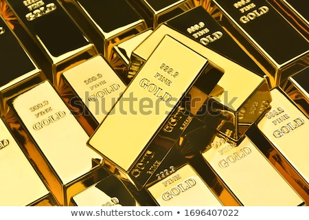 Goldbarren 3D gerendert Illustration isoliert weiß Stock foto © Spectral