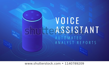 Isometric voice assistant automated analyst report illustration Stock photo © RAStudio