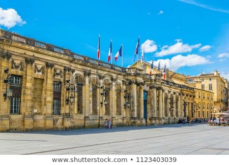 Bordeau város előcsarnok iroda kék sziluett Stock fotó © benkrut