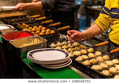 гриль уличной еды Осака Япония процесс приготовления Сток-фото © boggy
