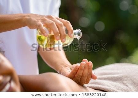 Tratamiento de spa spa bano toallas ramo rosa Foto stock © Epitavi