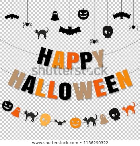halloween · partij · scary · pompoenen · grens · gelukkig - stockfoto © barbaliss