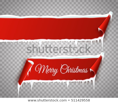 Christmas Old Paper Scrolls Banner Transparent Background Stock photo © adamson