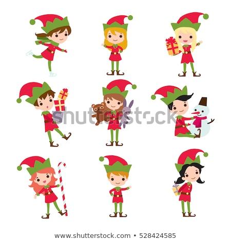 少女 · クッキー · サンタクロース · かわいい · 若い女の子 · 帽子 - ストックフォト © pikepicture