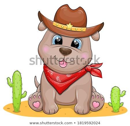 カウボーイ · 犬 · 手 · 幸せ · 服 · 動物 - ストックフォト © cthoman