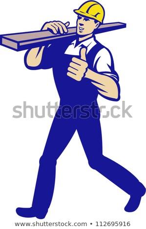 плотник пиломатериалов иллюстрация древесины рабочих Сток-фото © artisticco
