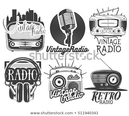 vintage radios elements illustration stock photo © lenm