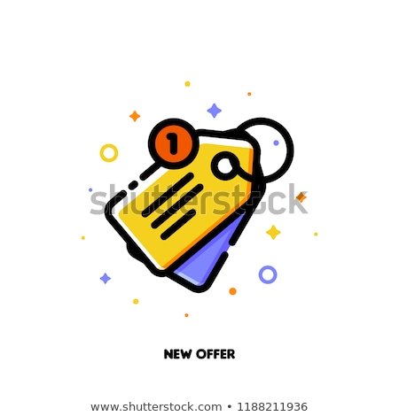 Icon of sale price tag for new offer concept. Flat filled outline stock photo © ussr