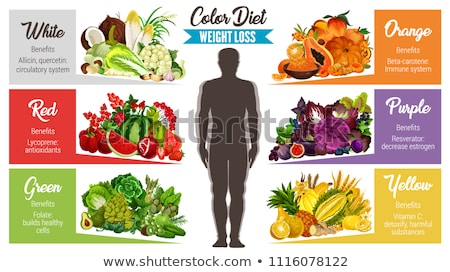 Green antioxidant organic vegetables, fruits and herbs Stock photo © dash