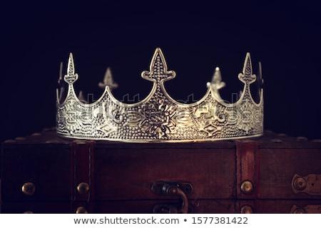 re · regina · piedi · fuori · blu · castello - foto d'archivio © vector1st
