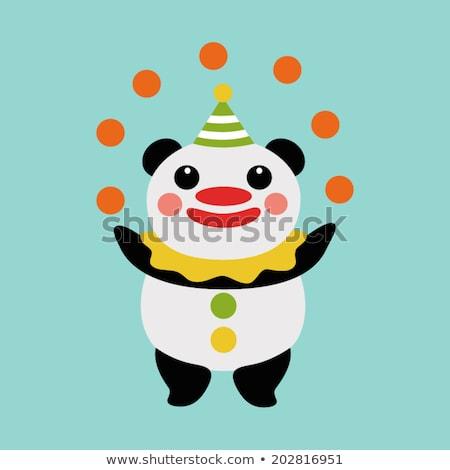 Cartoon Smiling Jester Bear Stock photo © cthoman