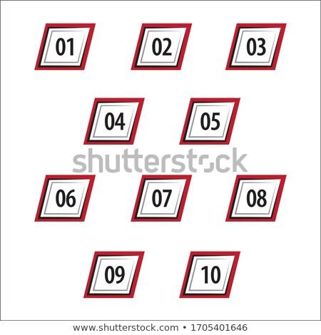 Number block from one to ten Stock photo © colematt