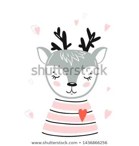 Animal outline for little fawn Stock photo © colematt