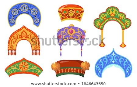 Russia Items Set Souvenirs Vector Illustration Stock photo © robuart