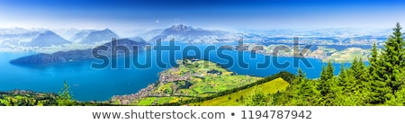 Pilatus mountain view from Lake Lucerne Stock photo © xbrchx