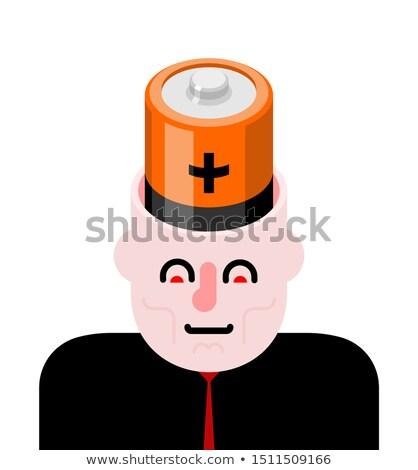バッテリー オープン 頭 脳 男 金属 ストックフォト © MaryValery