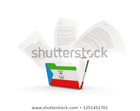 флаг · Экваториальная · Гвинея · флагшток · 3d · визуализации · изолированный · белый - Сток-фото © mikhailmishchenko
