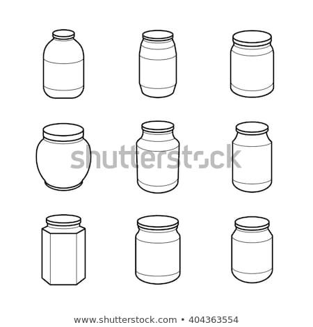 Conservato alimentare set vetro etichette Foto d'archivio © robuart