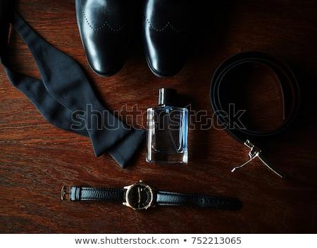 Vőlegény szett ruházat esküvő cipők csokornyakkendő Stock fotó © ruslanshramko
