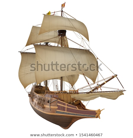 Pirate and crew on wooden ship Stock photo © colematt