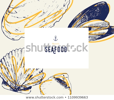 mussel and clam seafood vector illustrations stock photo © robuart
