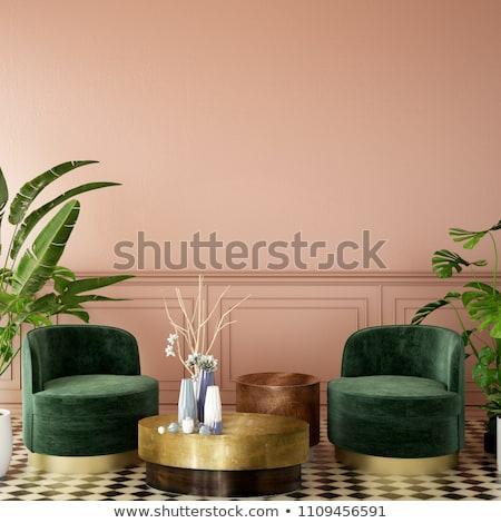 Luxus nő padlás belső egészalakos portré Stock fotó © dariazu