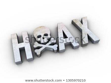 3d render of skull head word hoax Stock photo © nasirkhan