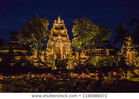 Verbazingwekkend nacht tempel bali eiland Stockfoto © galitskaya