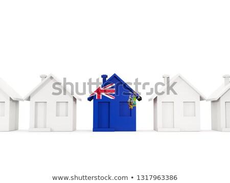 Ház zászló dél Grúzia szendvics szigetek Stock fotó © MikhailMishchenko